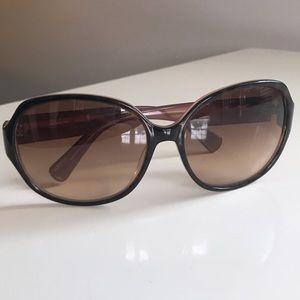 Coach Tortoise/Pink Sunglasses